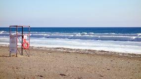 Spiaggia di inverno del lago Ontario Immagini Stock Libere da Diritti