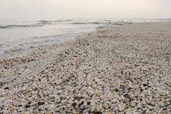 Spiaggia di inverno delle coperture a Mar Nero Immagine Stock Libera da Diritti