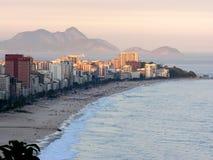 Spiaggia di Ipanema e di Leblon Fotografia Stock Libera da Diritti