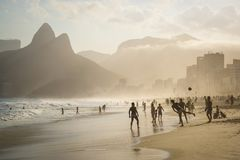 Spiaggia di Ipanema, Rio de Janeiro, Brasile immagine stock