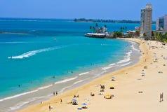 Spiaggia di Isla Verde, San Juan Immagine Stock