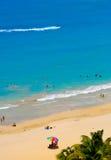 Spiaggia di Isla Verde, San Juan Fotografia Stock