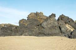 Spiaggia di Islandic fotografia stock libera da diritti