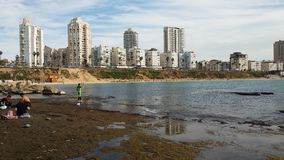Spiaggia di Israele Fotografia Stock Libera da Diritti