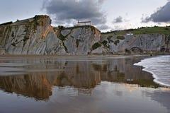 Spiaggia di Itzurun a Zumaia Fotografia Stock Libera da Diritti