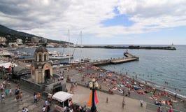 Spiaggia di Jalta, Crimea Immagine Stock Libera da Diritti
