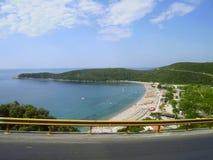Spiaggia di Jaz nel Montenegro Fotografie Stock Libere da Diritti