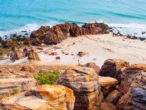 Spiaggia di Jericoacoara Immagini Stock Libere da Diritti