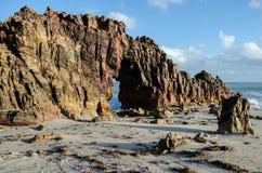 Spiaggia di Jericoacoara, Brasile Fotografie Stock