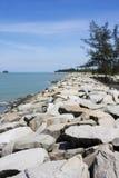 Spiaggia di Jerudong, Brunei fotografia stock libera da diritti