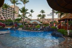 Spiaggia di Kaanapali, Maui, isole hawaiane immagine stock libera da diritti