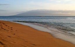 Spiaggia di Kahana Fotografie Stock
