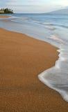 Spiaggia di Kahana Fotografia Stock