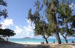 Spiaggia di Kailua Fotografia Stock Libera da Diritti