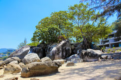Spiaggia di Kamala, phuket, Tailandia Immagini Stock Libere da Diritti