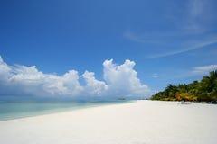 Spiaggia di Kani Isola-Maldives Immagini Stock Libere da Diritti