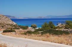 Spiaggia di Kania, isola di Halki Fotografia Stock Libera da Diritti