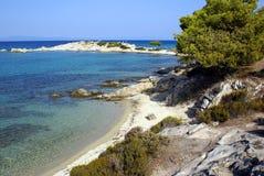 Spiaggia di Karidi Immagini Stock