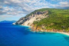 Spiaggia di Kastro, Skiathos, Grecia Immagini Stock Libere da Diritti