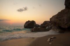 Spiaggia di Kathisma Fotografia Stock Libera da Diritti