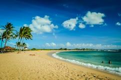 Spiaggia di Kauai, isole hawaiane Immagini Stock