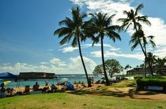 Spiaggia di Kauai, isole hawaiane Immagini Stock Libere da Diritti