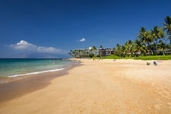 Spiaggia di Keawakapu, riva del sud di Maui, Hawai Fotografie Stock