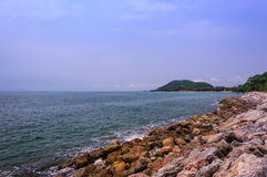 Spiaggia di Kebtawan immagini stock libere da diritti
