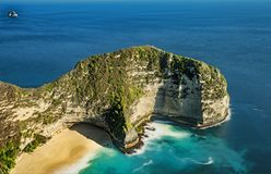 Spiaggia di Kelingking da Nusa Penida Fotografia Stock