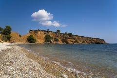 Spiaggia di Kokino Kastro Fotografia Stock Libera da Diritti