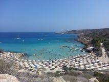 Spiaggia di Konnos Fotografie Stock