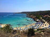 Spiaggia di Konnos Fotografia Stock Libera da Diritti