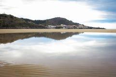 Spiaggia di Laida spain Immagini Stock Libere da Diritti
