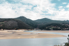 Spiaggia di Laida spain Fotografie Stock
