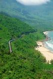 Spiaggia di Lang Co, tonalità, treno, ferrovia fotografie stock libere da diritti