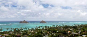 Spiaggia di Lanikai, Oahu Immagine Stock
