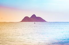 Spiaggia di Lanikai, Oahu HI Fotografia Stock Libera da Diritti