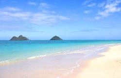 Spiaggia di Lanikei Fotografia Stock Libera da Diritti