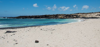 Spiaggia di Lanzarote Fotografie Stock Libere da Diritti