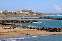 Spiaggia di Las Americas a Tenerife immagine stock libera da diritti