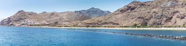 Spiaggia di Las Teresitas su Tenerife Fotografia Stock Libera da Diritti
