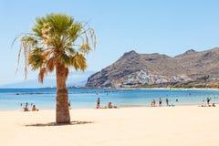 Spiaggia di Las Teresitas su Tenerife Fotografie Stock Libere da Diritti