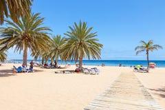 Spiaggia di Las Teresitas su Tenerife Immagini Stock Libere da Diritti