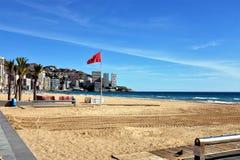 Spiaggia di Lavante, Benidorm, Spagna fotografia stock