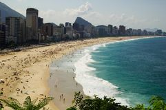 Spiaggia di Leblon e di Ipanema Fotografie Stock Libere da Diritti