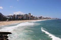 Spiaggia di Leblon - Rio de Janeiro Immagini Stock