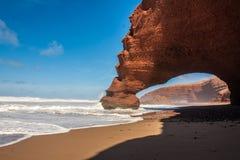 Spiaggia di Legzira Immagine Stock Libera da Diritti