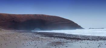 Spiaggia di Legzira nel Marocco Fotografia Stock