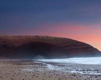 Spiaggia di Legzira nel Marocco Fotografie Stock