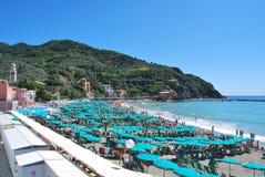 Spiaggia di Levanto - l'Italia Immagini Stock Libere da Diritti